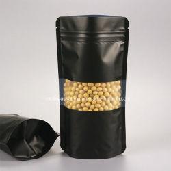 Biologisch abbaubare Aufstelltasche mit Reißverschluss und Klarem Sichtfenster China Hersteller