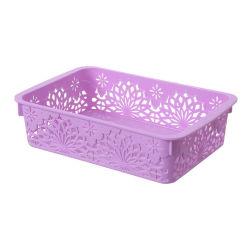 24*16*6.5 Desktop Papelaria Tecido Caixa de armazenamento de dados do organizador na caixa de plástico a cesta