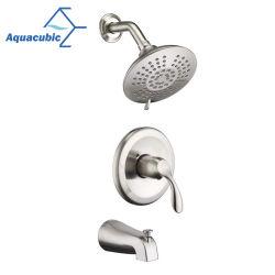 Aquacubic圧力バランス弁Upcの壁に取り付けられた浴室のシャワーのコックのトリムキット