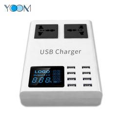 De goedkope Lader van de Adapter van de Telefoon USB van 8 Haven van de Prijs Multi Mobiele, het Snelle Wit van de Lader van de Muur van de multi-Haven