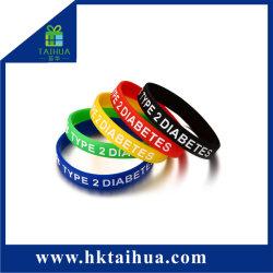Armbanden van het Silicone van de Verkoop van de Tribune van de fabriek de Directe Kleur Afgedrukte