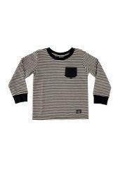 Maglietta della banda tinta filato L/S del Knit dei 2020 ragazzi di caduta 50%Cotton 50%Polyester