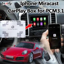 Plug & Play Caixa Carplay ios para 2010-2016 Porsche Cayenne Panamera PCM3.1 com a Apple Mapa Siri Comando Controle mutuamente