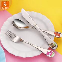 As crianças de segurança doméstica de alta qualidade talheres de aço inoxidável Dinnerware para crianças/Hotel/Casa com Novo Design