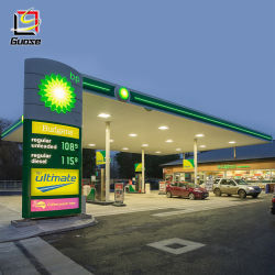 Стальные конструкции на автозаправочной станции навесами используется оборудование станции продажи природного газа из сборных конструкций станции навес
