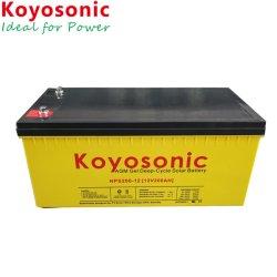 Batteria ricaricabile a gel a ciclo profondo da 12V 200 ah Solar Power