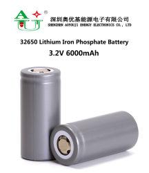 Nachladbares 5300mAh 5700mAh 6000mAh 32650 Zelle der Batterie-32700 LiFePO4 für e-Roller-Solarspeicher-Telekommunikations-Basisstation