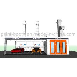 Aangepaste Spuitcabine Voor Automatische Carrosseriereparatie Met Direct Gestookte Gasverwarming
