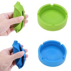 カスタム携帯用シリコーンの灰皿は環境に優しい世帯の灰皿反落ちる