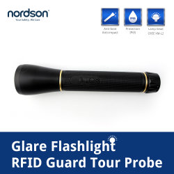 Wireless Glare Flashlight 125kHz RFID Guard Tour Patrol Management System RFID Card Readerm with USB (英語