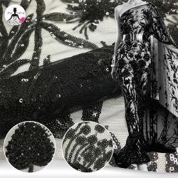2019 Femmes ROBE DENTELLE NOIR tissu mesh et Sequin