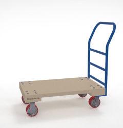 Het houten Platform Handtruck van het Handvat van het Dek Blauwe