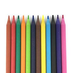 非有毒なWoodless花の形は子供によって着色される鉛筆12をクレヨンで彩色する