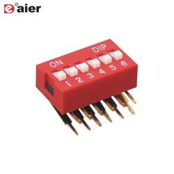 Да серии 2/3/4/5/6/7/8/10/12 Установите прямоугольный тип SMD переключатели DIP