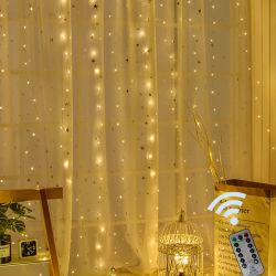 3m het Licht van het Koord van het LEIDENE Gordijn USB van het Venster met Afstandsbediening voor de Decoratie van Kerstmis van het Huis