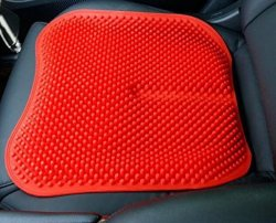La conducción de cojín de silla de masaje Cómodo cojín rojo