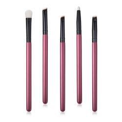 構成のブラシセットの化粧品のツールの構成一定5PCS Eyebrushes