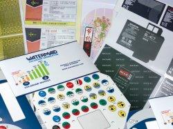 Tcf dôme multicolore gaufrage superposition graphique/étiquette de l'autocollant