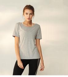2019 летние спортивной одежды женщин фитнес Майка режим быстрой сушки Quick-Dry футболка для йоги