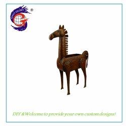 La decoración de interiores Desktop caballo de metal Maceta artesanías para jardín