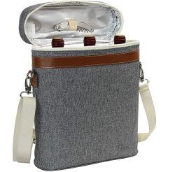 Рекламные подарок портативный 3 бутылки вина мешок, пользовательские изолированный вина перевозчика охладитель сумку с наплечным ремнем
