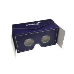 영상 유리 3D 가상 현실 유리가 선전용 선물 42mm 렌즈에 의하여 마분지 Vr Google 유리 봉투 Vr 헤드폰 접혔다