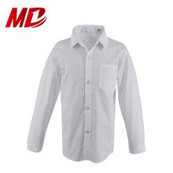 現代ロゴによってカスタマイズされる長い袖の男の子の学生服のワイシャツ