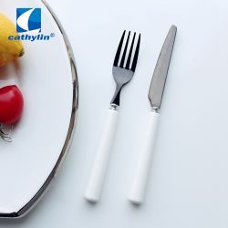 家の商品の平製品をきれいにすること容易、セラミックハンドルのフルーツナイフおよびフォーク