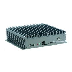 SIM J1900 Fanlessの産業小型コンピュータを持つ二重LAN 6 COM