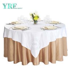 Banquet de mariage de haute qualité Fancy 120/132pouces vêtements de la Table ronde