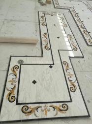 Natuurlijk Waterjet van de Steen Marmer voor Vloer/Bevloering/Muur/Keuken/Hal/Plak/het Patroon van de Tegel/van het Mozaïek/de Tegel van de Vloer van de Grens