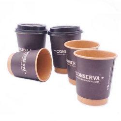 カスタム紙コップ6ozはカスタム熱い飲み物の紙コップの袖を卸し売りする