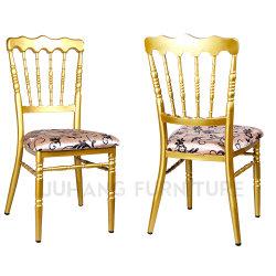 Hotel de metal muebles banquete de bodas asiento fijo sillas de Napoleón (HM-W013-1)