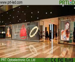 Piscina P3.91 Cores-P7.81 LED do painel de vidro transparente de montra/aeroporto/exposições