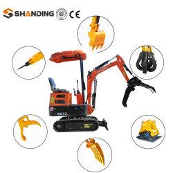 1 ton Mini-graafmachine China Goedkope hydraulische graafmachine met graafarm Fabrikant hydraulische graafmachine