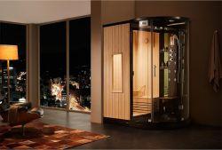 Estilo moderno Wet Chuveiro de vapor e sala de sauna seca Canbin multifuncional