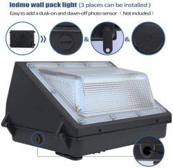 45W LED-Wandleuchte, 3000/4000/5000K CCT, 5400lm, HID-Austausch, IP65, 110-277V, helle konsistente kommerzielle Outdoor-Sicherheitsleuchte - ETL, DLC gelistet