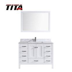 Governo moderno di vendita caldo T9199-48W di vanità della stanza da bagno di legno solido