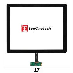 17 pouces capacitif Point Multi 10 4:3 Film de panneau d'écran tactile USB avec capteur tactile modulaire cadre mince Interface USB pour l'air Moniteur d'affichage LCD de collage optique