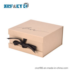 صندوق مغناطيسي للهدايا يمكن طيها مع ورق مطبوع مخصص قابل لإعادة الاستخدام