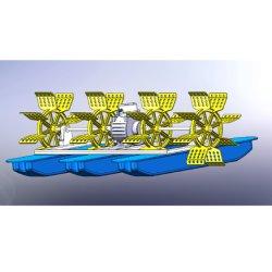 مجداف Aerator ذو عجلة المياه الساحرة مع 6 رفاصات بقدرة 380 فولت بقدرة 1.5 كيلو واط محرك دائم للمياه العذبة زراعة الروبيان الأسماك Pond أكيكولتور