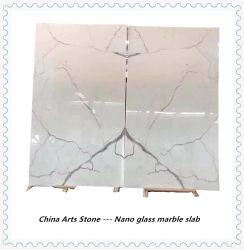 Branco/Preto/bege de quartzo de pedra e mármore, laje de granito para bancada e pavimentos projeto lado a lado
