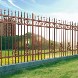 F008 Jardín Jardín decorativo valla metálica de acero/ patio valla valla de fundición de hierro forjado// soldado cerca del estadio