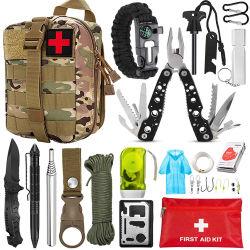 Equipo de camping al aire libre supervivencia multifuncional médico sos suministros de emergencia, botiquín de primeros auxilios con 67pcs conjunto dentro de