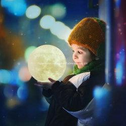 Plena Luna em forma de esfera de carregamento USB com alimentação de bateria elétrica LED Tabela Luz noturna 3D Imprimir a luz da lua
