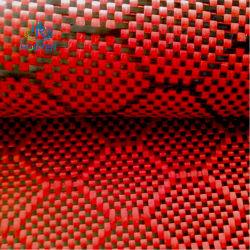 Roter Kohlenstoff-Faser-Gewebe-Honig-Kamm farbiges Kohlenstoff-Faser-Tuch