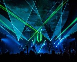 마카오 음악제 연주회 단계 30W RGB 레이저 광선 빛