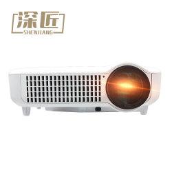 Support haute Lumens HDMI 1080p VGA USB 1500 Lumens Résolution native de 800x480 Mini projecteur vidéo projecteur LCD LED