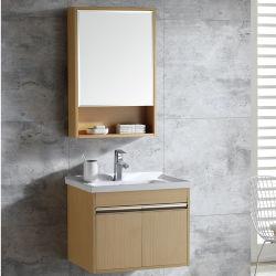 2021 Prezzo economico legno piccolo hotel a parete armadio bagno Set di cortesia per lavabo con specchio