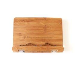 Kundenspezifischer Tisch, der justierbaren hölzernen Bambusbuch-Standplatz-Halter liest